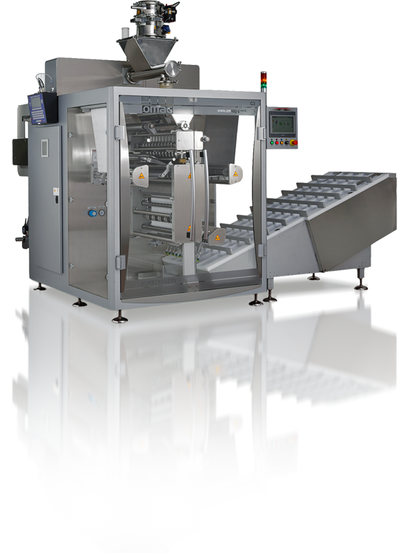 Vertical packaging machine for granular