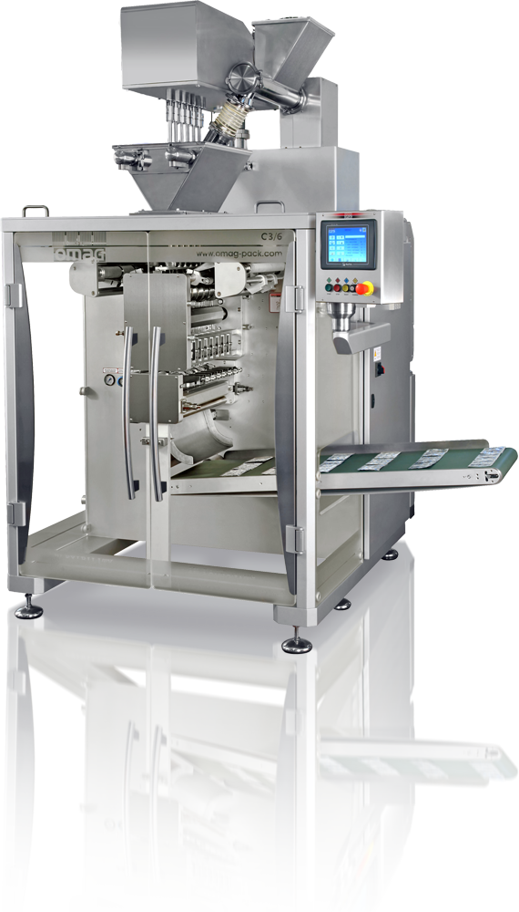 Powder packaging machines
