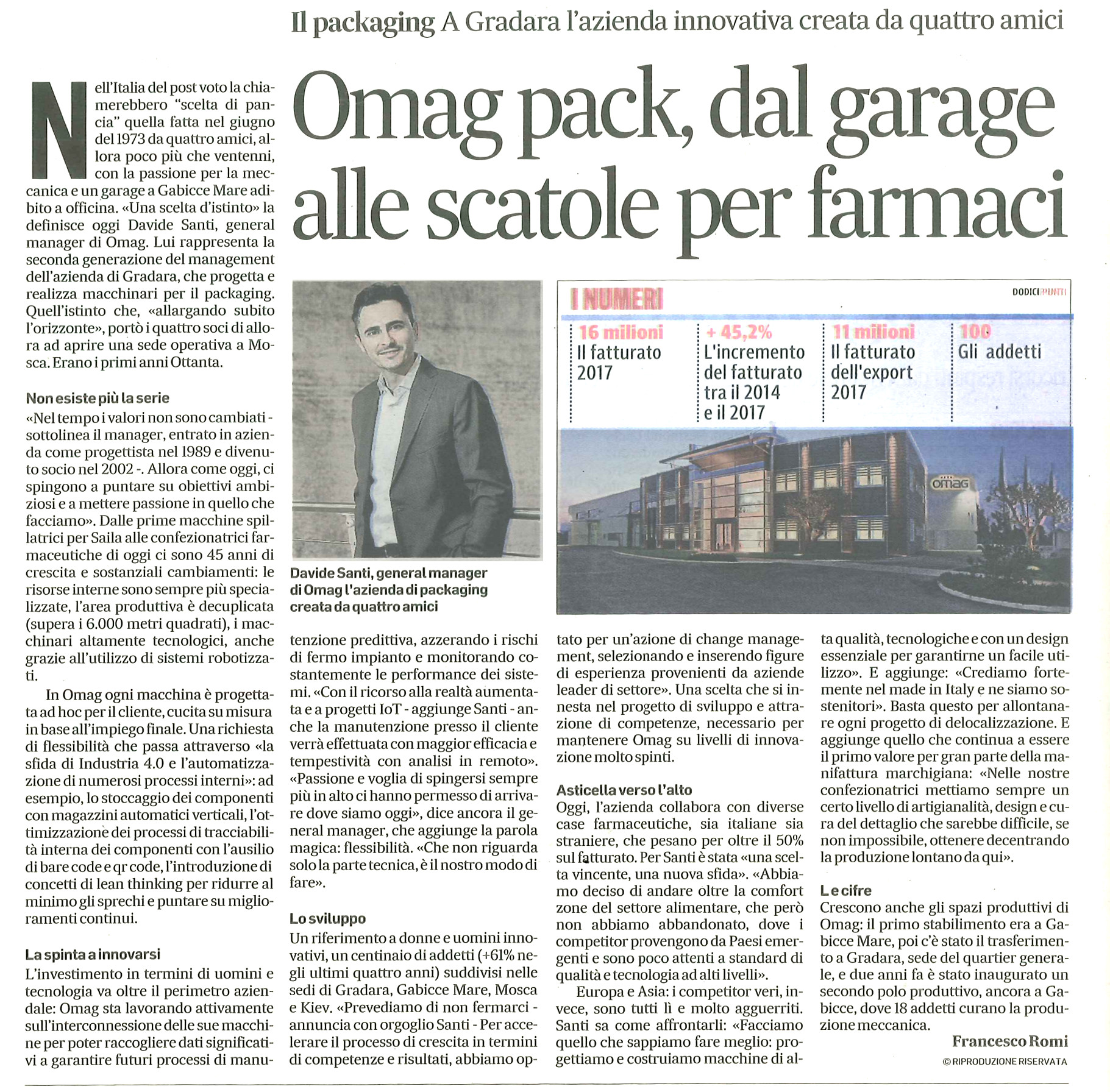 Corriere Adriatico Omag website