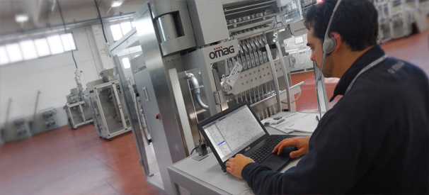 Technical support for packaging machinery