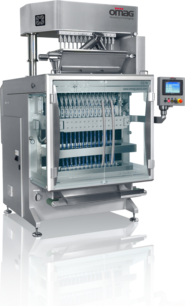 Stick packaging machines for powder products